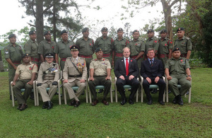 Acting High Commissioner Daniel Salter with officials and participants of the Psychology of Leadership Course