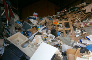 Example of stored rubbish that attracted rats