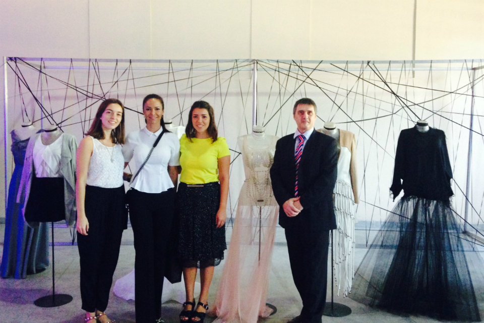 British Deputy Head of Mission Robin Shackell with Paraguayan fashion designers