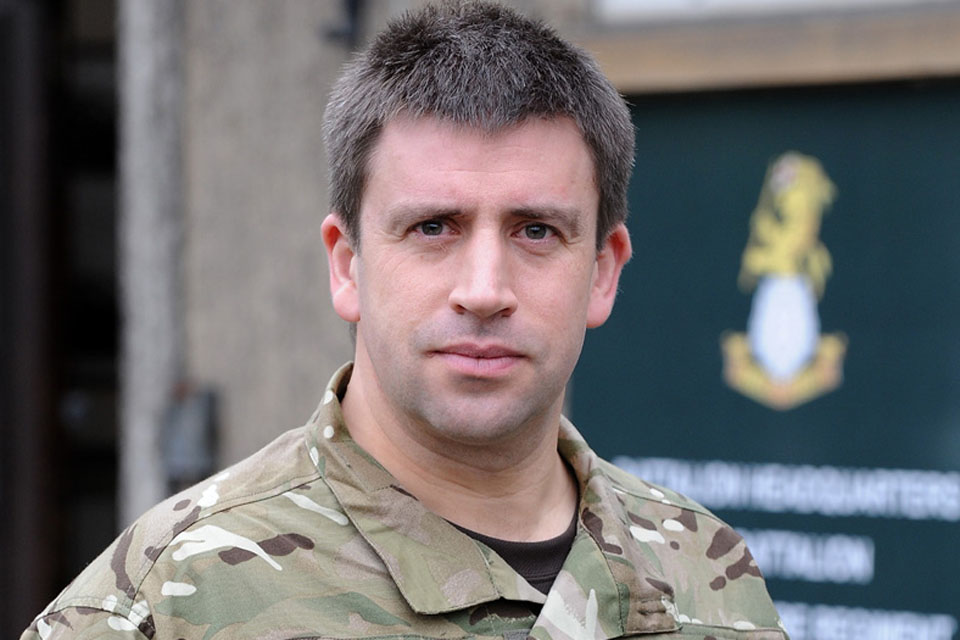Lieutenant Colonel Dan Bradbury, Commanding Officer of 1st Battalion The Yorkshire Regiment