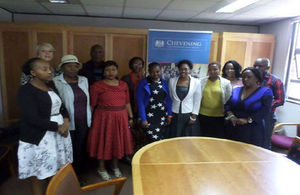 Sue Hewer in Lesotho with potential Chevening Scholars