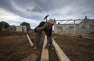 British Army Engineers and Sierra Leonean construction workers built the centre. Picture: Rob Holden Photography/DFID/Save the Children