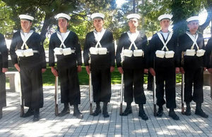 Chilean Navy officers during ceremony.