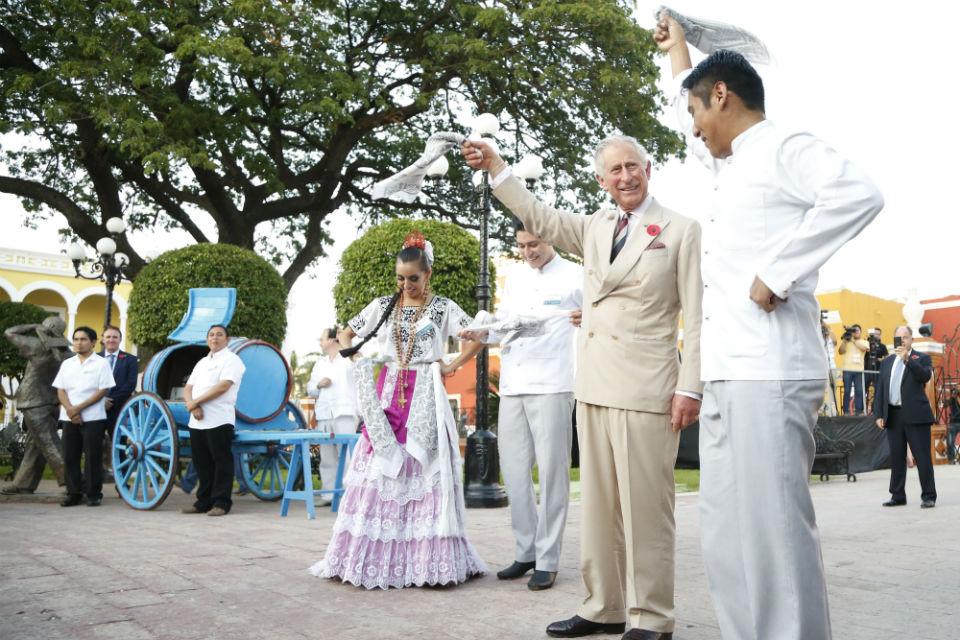 Príncipe Carlos en Campeche