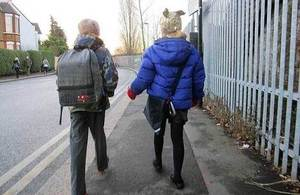 Children travelling to school