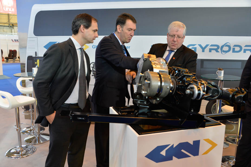 Transport Secretary attends Euro Bus Expo 2014.