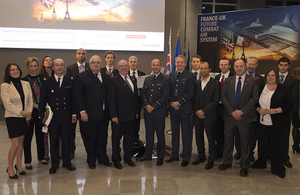 Bernard Gray, Chief of Defence Materiel, and Laurent Collet-Billon, head of the French Directorate General of Armaments, with their teams [Picture: Andrew Linnett, Crown copyright]