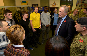 Minister for Reserves Julian Brazier visiting 71st (City of London) Yeomanry Signal Regiment [Picture: Kevin Poolman]