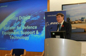 Philip Dunne, Minister for Defence Exports, delivers the keynote address.