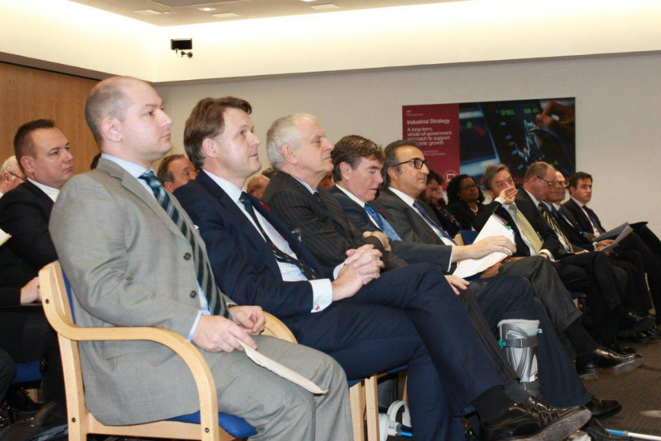 The audience included Richard Paniguian, Head of UKTI DSO and a number of Boeing's senior supply chain officials.