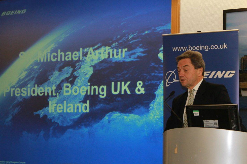 The Boeing team was led by Sir Michael Arthur, President, UK and Ireland.