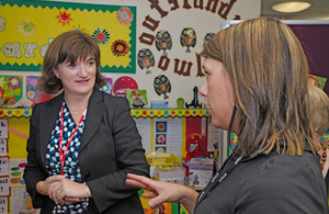 Nicky Morgan in classroom