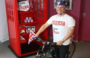 Deputy Director, British Trade & Cultural Office to ride around Taiwan in nine days