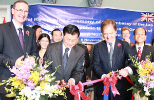 Lao Embassy reopening in London
