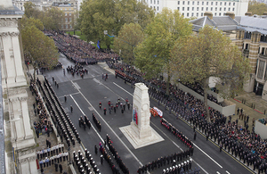 Remembrance Sunday service at the Cenotaph in London [Picture: Sergeant Pete Mobbs RAF, Crown copyright]