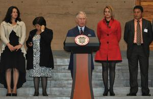 Su Alteza Real El Príncipe De Gales durante el evento de Paz y Reconciliación