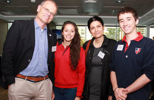 Students and teachers from the Swiss School.