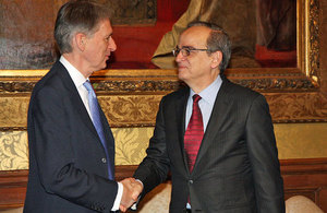 Foreign Secretary Philip Hammond meets Syrian opposition leader Hadi al-Bahra in London.