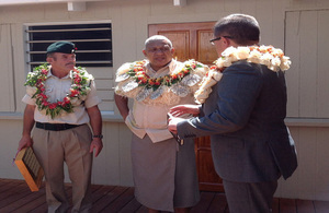 Prime Minister Bainimarama with High Commissioner, HE Mr Roderick Drummond and Major (retd) Jim Hall