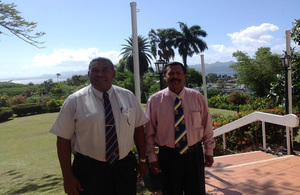 Fijian Police Officers SSP Shiri Bhawan Singh and SP Eparama Waqa