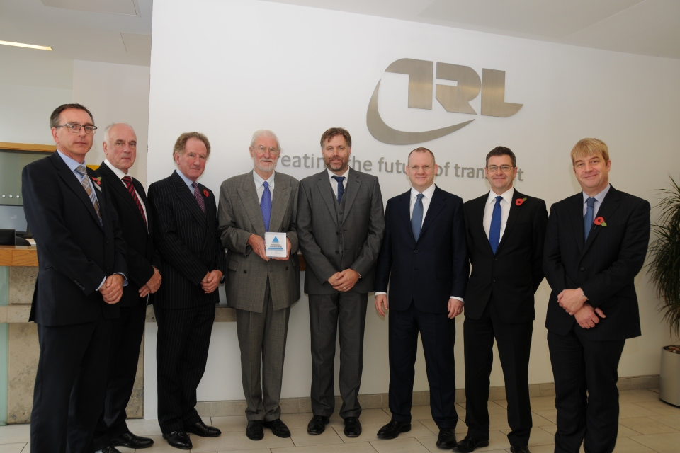 Being presented with the International Prince Michael International Road Safety Award
