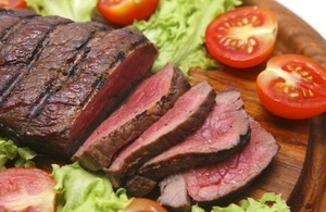 Image of beef steak and salad