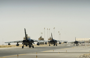 31 Squadron Tornado GR4s depart Kandahar Air Base [Picture: Corporal Andrew Morris RAF, Crown copyright]