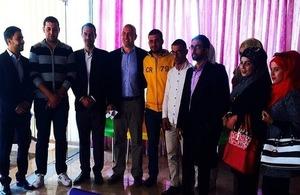 DHM Simon Mustard during his visit to Karak