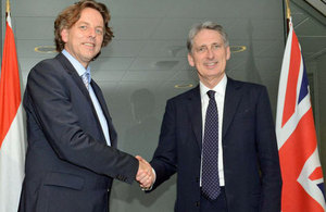 Foreign Secretary Philip Hammond and Dutch Foreign Minister Albert Koenders