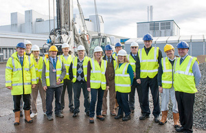UKAEA Executive visit the MRF construction site