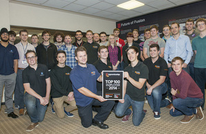 UKAEA wins Top 100 Apprenticeship Employer award