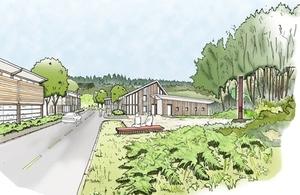 Artist's impression of the Cinderford Northern Quarter development