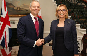 David Lidington and Tamar Beruchashvili