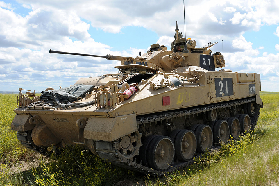 A Warrior infantry fighting vehicle