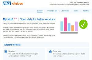 Screenshot of MyNHS site