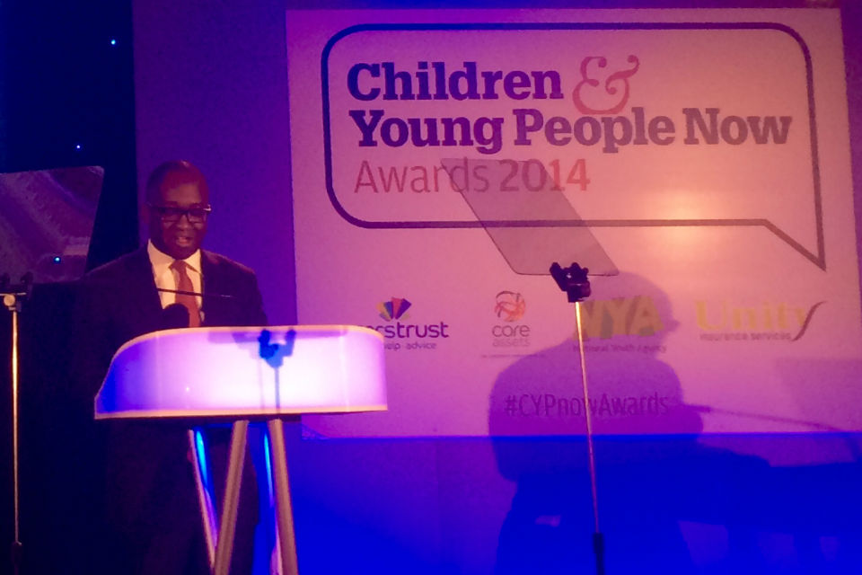 Sam Gyimah speaking