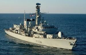 HMS IRON DUKE PAYS VISIT TO HAITI