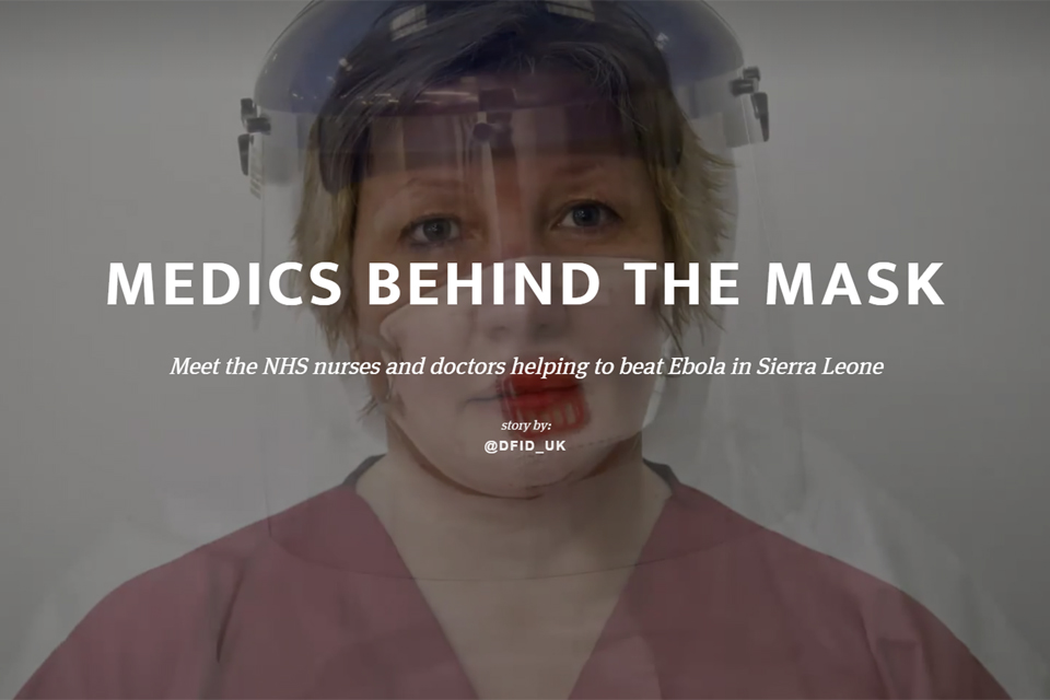 Image - a graphic from the Medics Behind The Mask interactive