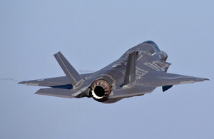 An F-35 Lightning II aircraft at Eglin Air Force Base, Florida [Picture: Harland Quarrington, Crown copyright]