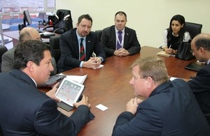 UK delegates with Minister Cesar Navas