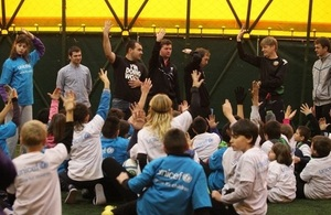 British Embassy Sofia, UNICEF and Liverpool FC Foundation in support to Bulgarian children