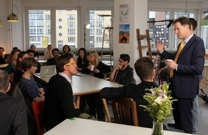 Nick Clegg meets people who work at Betahaus.
