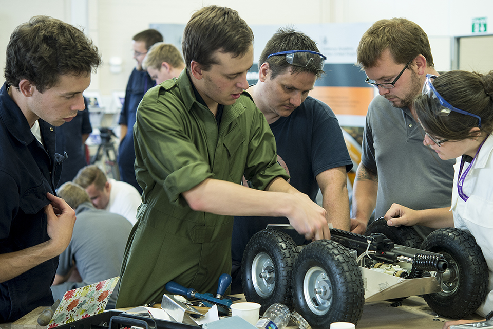 A team of defence engineering apprentices