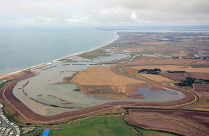 Medmerry flood defence, winner of the 2014 Prime Minister's Better Public Buildings Award