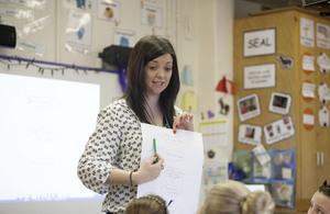 Teacher conducting a lesson