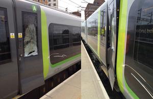 Images of damaged train courtesy of Network Rail