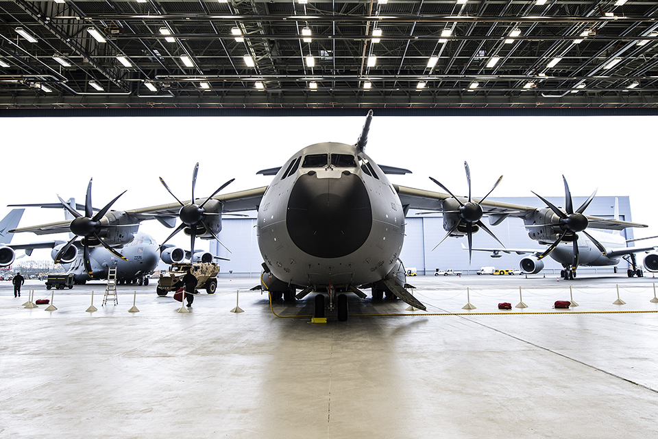 The A400M Atlas can carry twice as much as its predecessor the C130 Hercules [Picture: Andrew Linnett, Crown copyright]