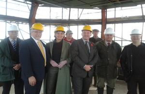 Stephen Williams and Greenham parish councillors