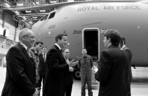 PM at RAF Brize Norton
