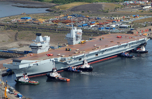 HMS Queen Elizabeth (library image) [Picture: Crown copyright]